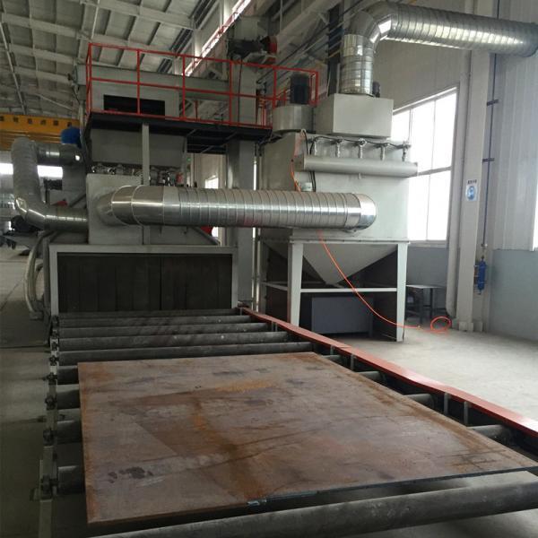 Steel Plate Roller Conveyor Shot Blasting Machine Improve