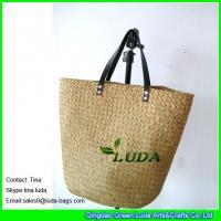 China LUDA cheap wholesale handbags natural seagrass straw handbag on sale
