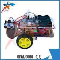 China DIY 2WD Smart Toy Arduino Car Robot Chassis HC - SR04 Ultrasonic Intelligent Car on sale