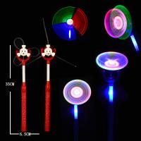 China Child  Music Light Up Spinning Windmill / Holiday Light Up Pinwheel on sale