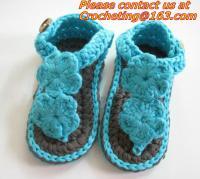 Buy cheap Boys Girls Crochet Sandal Thongs Slippers Newborn Infant Toddler Prewalker Kids Knitt from Wholesalers