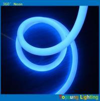 hot product 100leds/m blue 360degree round led neon flex light 220v 25m spool