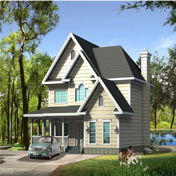 Light Steel House Prefabricated Luxury Villa with Porch