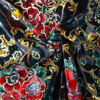 Buy cheap 2018 hot sale burnout printed KS silk velvet fabric for dresses from Wholesalers