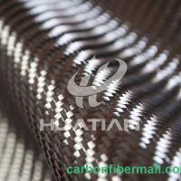 China Glitter carbon fiber fabric,Twill And Plain Woven Carbon Fiber Fabric 12k on sale