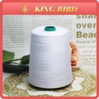 China Raw White Sewing Machine Thread 10000 yards , 100% Spun Polyester on sale