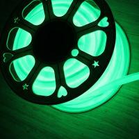 Buy cheap 12V IP67 round led neon flex 16mm mini 360 degree green rope light soft tube from Wholesalers