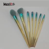 Kuulee water drop electroplating talon hair plastic 7pcs makeup brushes