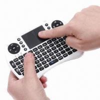 China 2.4GHz Rii Mini i8 2.4G Wireless Keyboard with Touchpad/Google's TV Box/Media Control on sale