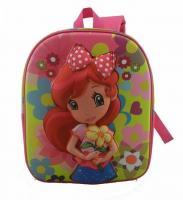China Embroider 600D Kids School Backpacks , Colored Children School Bag on sale