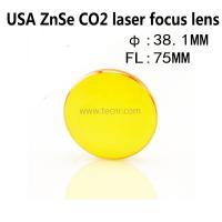 China USA ZnSe laser pointer lens 38.1MM diameter 75MM focus length for laser engraving machine on sale