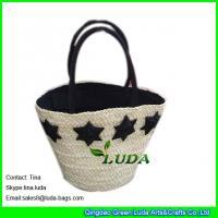 LUDA summer straw handbags handmade cornhusk straw handbags wholesale