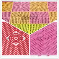 China 3W Toilet/Bathroom/Kitchen/Pool/4S Shop Plastic PP/PVC Interlocking Leak Grid flooring on sale