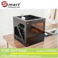 China Wholesale desktop large FDM 3D printer, 3D printer machine with printing size 210*200*180mm on sale