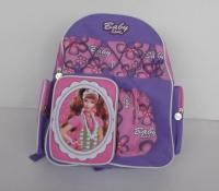 China Pretty Cartoon Character Backpacks , Personalized Kids Backpacks Purple on sale