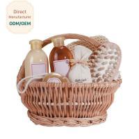 China Organic Bath Gift Baskets With Shower Gel Body Lotion Bath Salt Body Butter Soap on sale