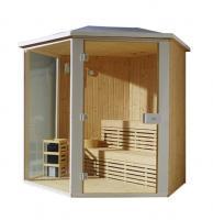China Monalisa M-6012 sauna room outdoor dry steam sauna enclosure Finnish dry sauna house Harvia sauna (for outdoor use) on sale