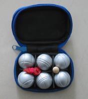 jeu de boules, 6 chromed MINI Boules/Boules Set/petanque set