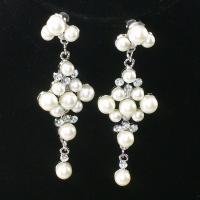 China Fashion Crystal Beaded Drop Earrings Vintage Big earrings Round Dangle Earring Jewelry on sale
