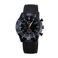 China Men's Stainless Steel Caseback Watches ,Men Sports Silicon Watch Wrist Watch ,OEM Multifunction Chrono Quartz Watch on sale