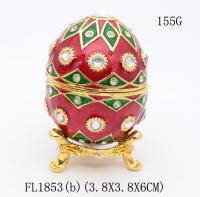 Buy cheap Faberge Easter egg trinket box gold Faberge Easter egg jewelry box from Wholesalers