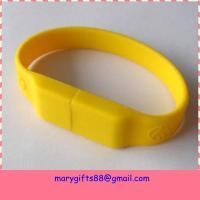 China Bulk cheap 4GB USB flash drives silicon USB bracelet on sale