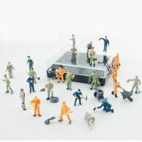 Buy cheap 1:87 color railroad scale figure,model worker figures,1/87 figures,HO Scale miniature Figures from Wholesalers