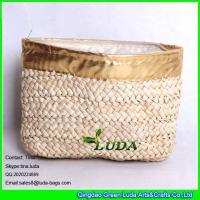 Buy cheap LUDA new design elegant women corn hust straw clutch bag fashion handbag from Wholesalers