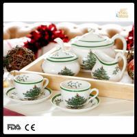 China royal porcelain Christmas 15pcs tea set for gift on sale