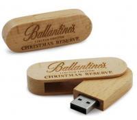 Buy cheap Wood Swivel Usb Memory Device Drive , 4Gb 16Gb Mini Usb Memory Stick 1 Year Warranty from Wholesalers
