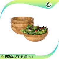 China bamboo salad bowl set with servers on sale