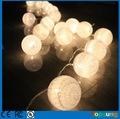 hot sale led cotton light balls solar christmas decoration for home 20 bulbs