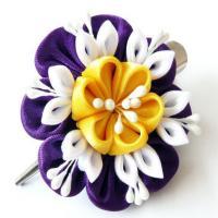 China fashion handmade fabric flowers fabric brooch flower handmade chiffon flower on sale