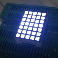 China Square 5x7 Dot Matrix LED Display Ultra White Row Anode Column Cathode For Lift Indicator on sale