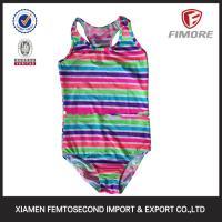 Buy cheap 2016 so cute girls new strip printed bikini swimming wear swimwear one piece bikini Swimsu from Wholesalers