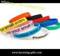 China Customed cheap pretty design sport silicone wristband/silicon bracelet on sale