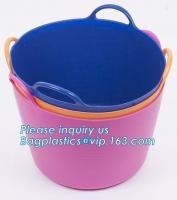 China Household free sample woven plastic storage basket laundry storage basket, Foldable Storage laundry Baskets Storage Bask on sale