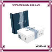 China Custom men shoes paper packaging box/Sandal paper bag in summer ME-BB008 on sale
