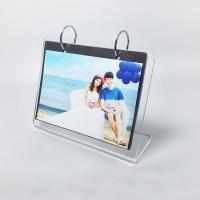 China Transparent L shape custom picture photo frame clear acrylic photo frame on sale