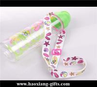 China no minimum order custom Printed logo 20*900mm water bottle holder lanyards on sale