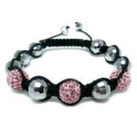 Elegant & unique fashion design Czekh Crystal Shamballa Crystal Beads Bracelet