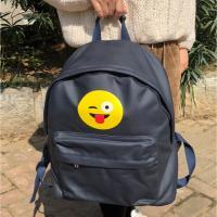Buy cheap Dark Blue Waterproof Custom Canvas Backpacks For Teens Logo Printed from Wholesalers