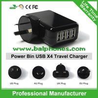 China UK,EU,US,AU Plug 4 port mobile phone charger 4 Port USB Travel charger on sale