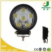 Buy cheap Car led light round shape 10-30V spot beam 18w led work lamp IP67 from Wholesalers