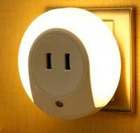 China Mutifuction USB Socket and LED light  night sleep bedside lamp LX128 on sale