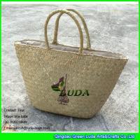 Buy cheap LUDA wholesale natural purse and handbags logo printed seagrass straw handbags from Wholesalers