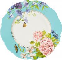 China Delicate Ceramic Dessert Plates , Waving Shape Floral Dessert Plates For Wedding on sale