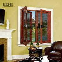 Buy cheap Red Aluminum Double Glazed Windows / Buildings Aluminum Double Pane Windows from Wholesalers