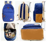 China Women Canvas School Bag Girl Backpack Travel Rucksack Shoulder Bag on sale
