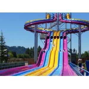 Fiberglass Swimming Pool Water Slides , Playground Water Slides For ...